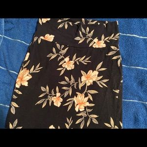Blue flowered Pencil skirt from Charlotte Russe